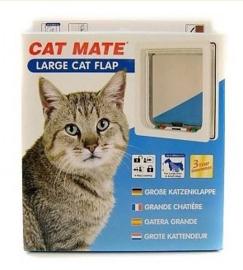 Cat Mate Kattenluik Grote Kat Wit 221 - deur tot 50mm