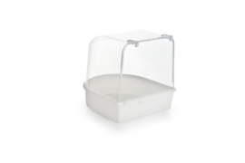 Plastic badhuisje, wit 13X13X13 cm