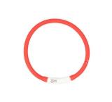 Hondenhalsband Flash Ring Licht USB - Silicone - Rood - 45cm