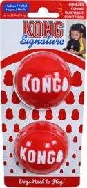 Kong 'Signature' Balls 6,5cm Medium 2 stuks - met Piep