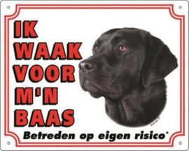 Waakbord Labrador Zwart