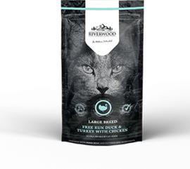 Riverwood Kat Graanvrij, Large Breed (Kip, Eend en Kalkoen) 300 gram