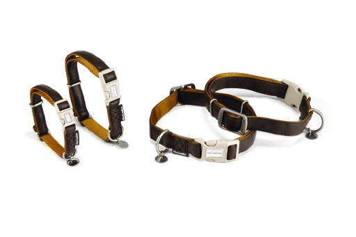 Halsband Mac Leather Soft Touch, bruin 2,5x45-70cm