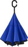 Omgekeerde paraplu blauw