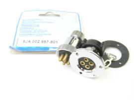 Hella Marine Plug and Socket - 4 Pin 8JA 002.957-801