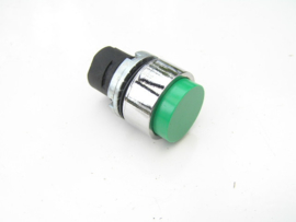 Elfin 020PTASV W Round Push-button Green