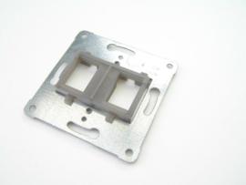 Peha draagframe voor 1 of 2 Modular Jack aansluiting, grijs