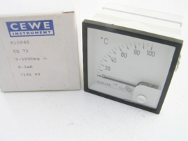 Cewe Instrument CQ72 0-100℃ 0-1mA