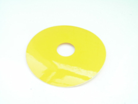 Noodstop  etiket (sticker) Diameter 10cm. M22
