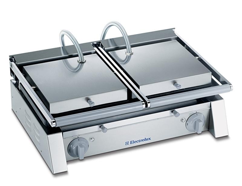 Libero panini grill - 2 zones  - gladde platen