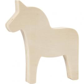 Houten paardje 13 cm (mogelijk met naam)