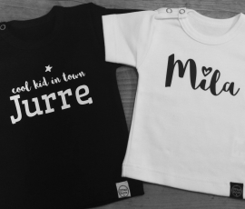 Shirtje  'Naam + hartje'