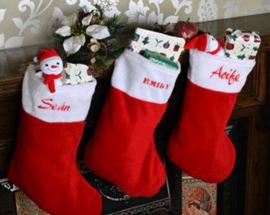 Kerstsok met naam