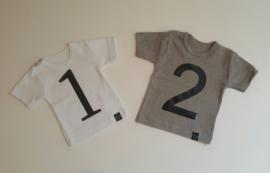Cijfer 1 voor op shirt