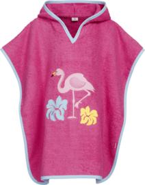 Badstof poncho Flamingo tot 4jaar