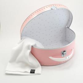 Koffertje roze halfrond