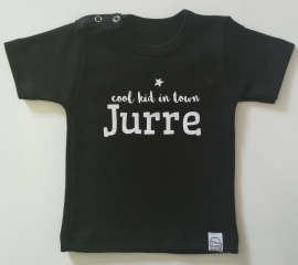 Shirtje 'sterretje, cool kid in town NAAM'