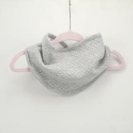 Slab bandana 20 cm grijs/wit