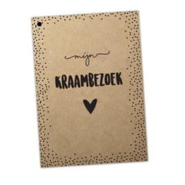 Mijn kraambezoek boek (te personaliseren)