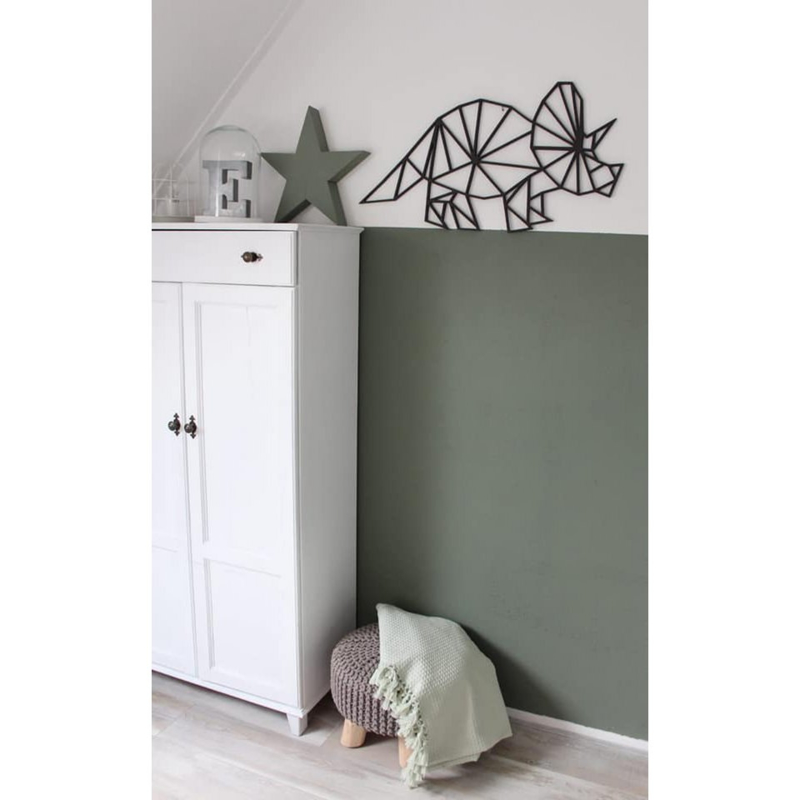 Wanddecoratie houten Dino