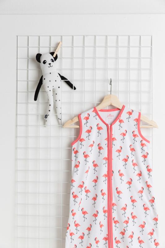 Slaapzak zomer jersey Flamingo 70 cm