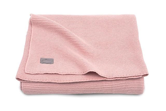 Deken knit Blush Pink (wieg of ledikant)