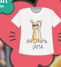 T-shirt Lama 65 cm