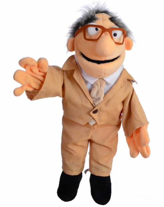 Living puppets handpop opa Flonz 58 cm WS688