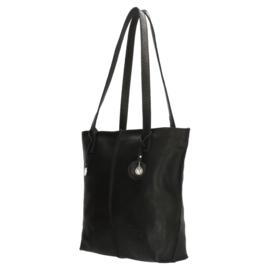 Leren shopper, zwart S - Sodutch #01