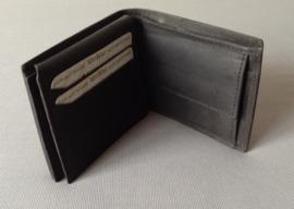 Leren heren portemonnee, antraciet - MicMac