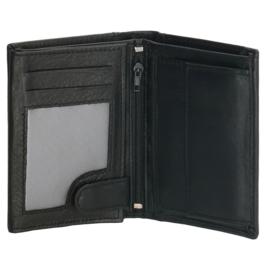 Portemonnee met veel opbergvakjes, zwart