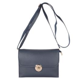 klein schoudertasje, donkerblauw