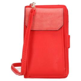 Schoudertasje /portemonnee, rood