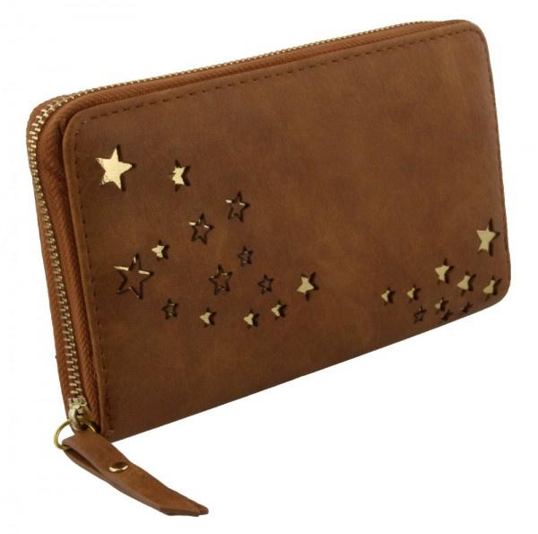 Ruime portemonnee met gouden sterretjes