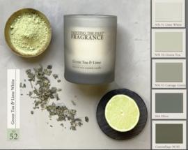 Geurkaars NO 52 Green Tea & Lime White