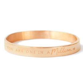 Slavenarmband 'You are one in a million'