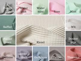 Ledikantdeken fijne wafel + wellness fleece kleuren zelf samenstellen