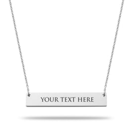 Bar Necklace | Personalized | Silver