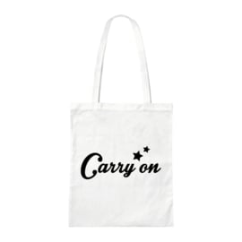Canvas tas - Carry on - Wit