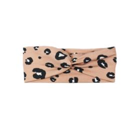 Haarband Twist   Bushy Leopard   Handmade
