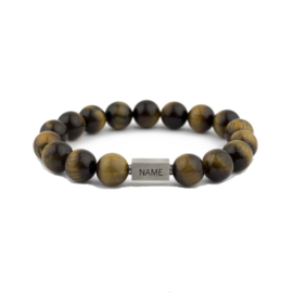 Bracelet | Tiger Eye Qube | Personalized