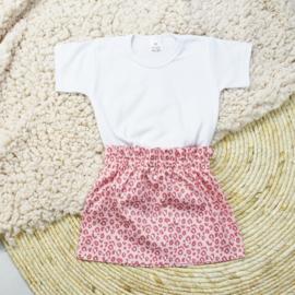 Basic Shirt | Rokje Leopard Pink