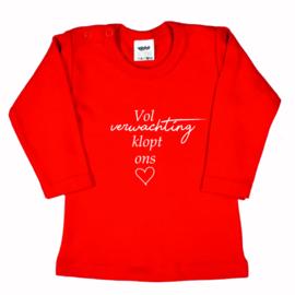 Shirt | Vol verwachting klopt ons hart