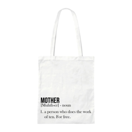 Canvas tas - Mother - Wit