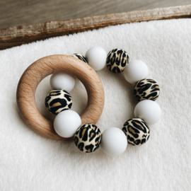 Bijtring   Leopard White