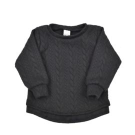 Sweater met split | Cable Black | 62 | SS