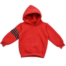 Royal Rebel | Oversized Hoodie met Voorzakje | Red