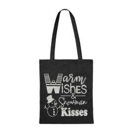 Canvas tas | Warm Wishes & Snowman Kisses