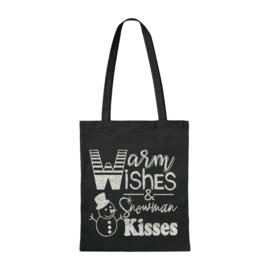 Canvas tas | Warm Wishes & Snowman Kisses