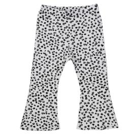 Flared Pants | Leopard Grey | Handmade